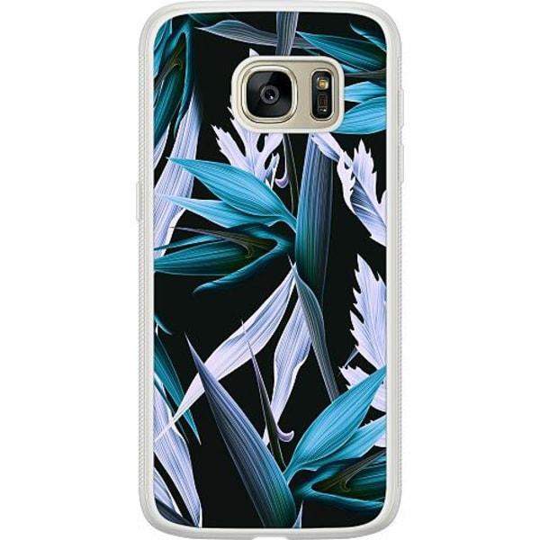 Samsung Galaxy S7 Soft Case (Frostad) Blue Flower