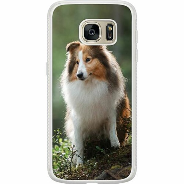 Samsung Galaxy S7 Soft Case (Frostad) Collie Dog