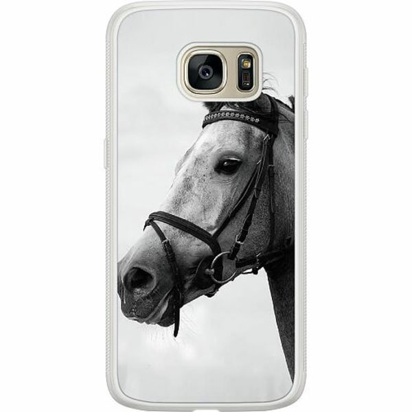 Samsung Galaxy S7 Soft Case (Frostad) Häst