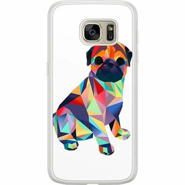 Samsung Galaxy S7 Soft Case (Frostad) Pug
