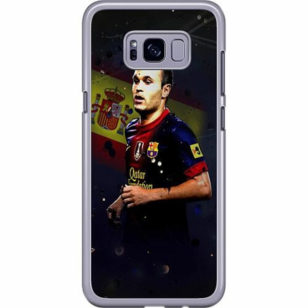 Samsung Galaxy S8 Plus Hard Case (Transparent) Andrés Iniesta