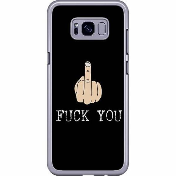 Samsung Galaxy S8 Plus Hard Case (Transparent) Fuck You