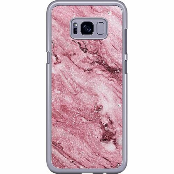 Samsung Galaxy S8 Plus Hard Case (Transparent) Glitter Marble