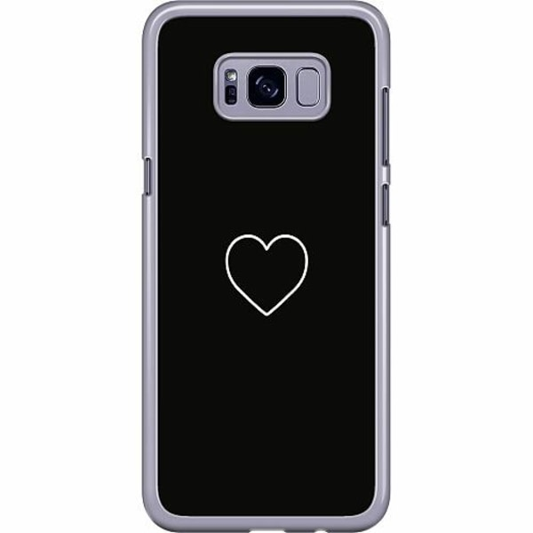 Samsung Galaxy S8 Plus Hard Case (Transparent) Hjärta