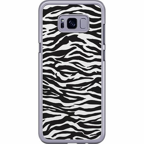 Samsung Galaxy S8 Plus Hard Case (Transparent) Zebra Mönster