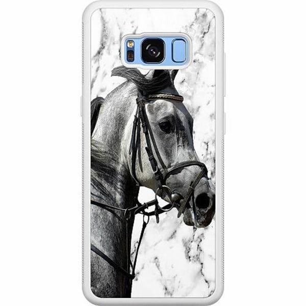 Samsung Galaxy S8 Soft Case (Vit) Häst