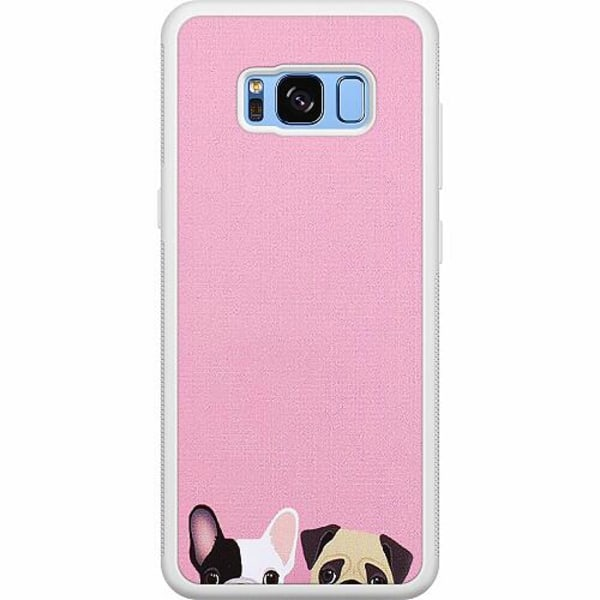 Samsung Galaxy S8 Soft Case (Vit) Hundar