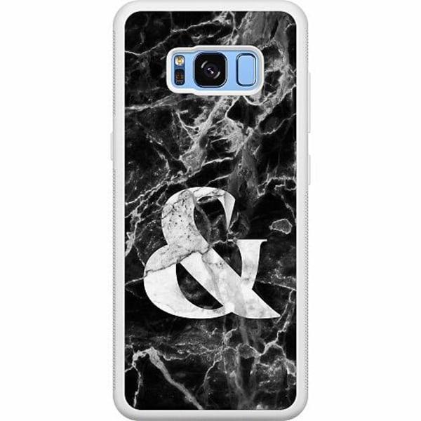 Samsung Galaxy S8 Soft Case (Vit) Marmor & Svart