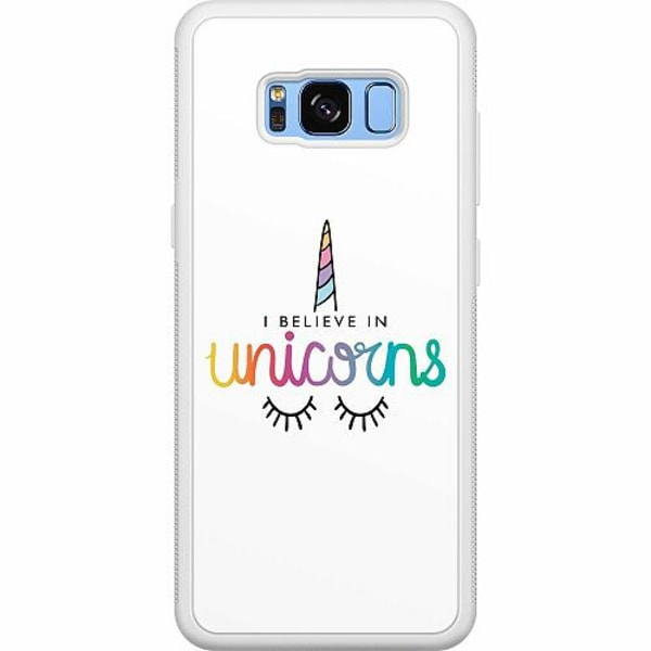 Samsung Galaxy S8 Soft Case (Vit) Unicorn