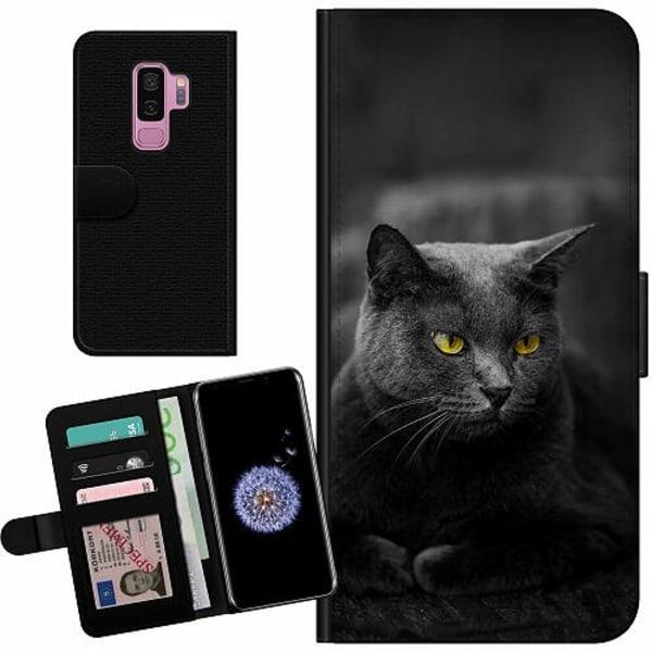 Samsung Galaxy S9+ Billigt Fodral Black Cat