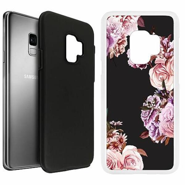 Samsung Galaxy S9 Duo Case Vit Blommor