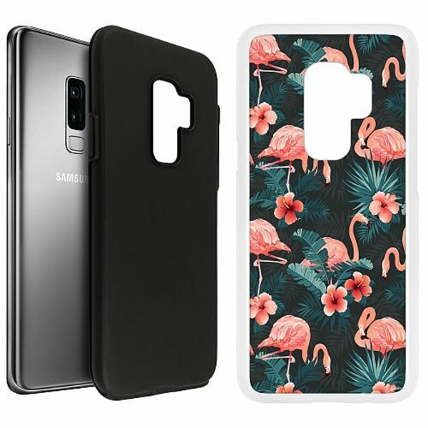 Samsung Galaxy S9+ Duo Case Vit Flamingo Fever
