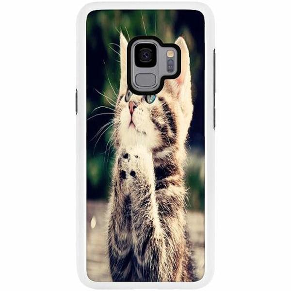 Samsung Galaxy S9 Duo Case Vit Katt