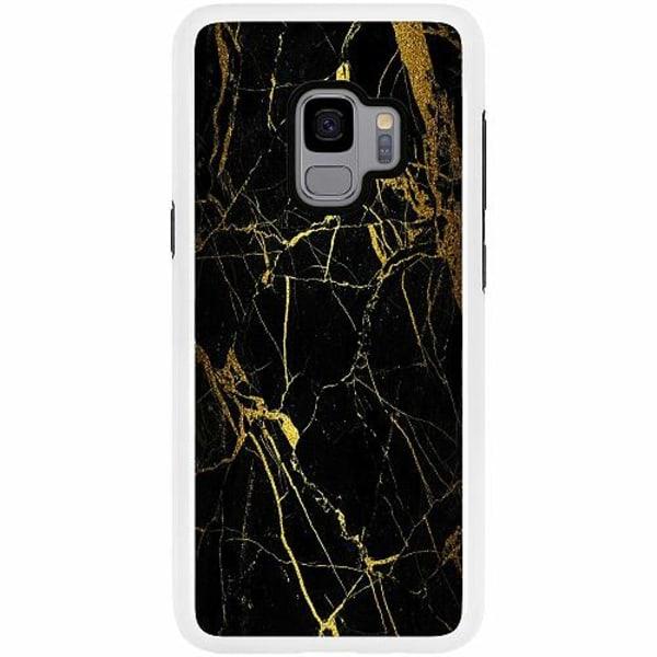 Samsung Galaxy S9 Duo Case Vit Marble Black&Gold