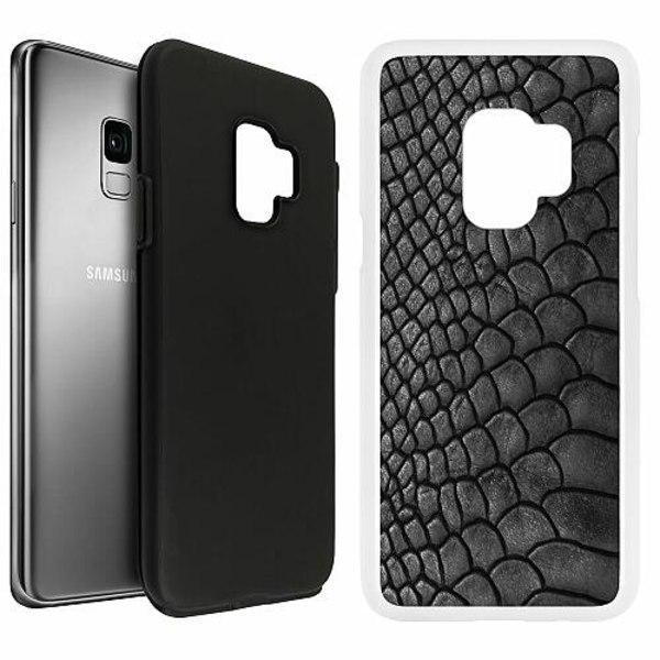 Samsung Galaxy S9 Duo Case Vit Mönster