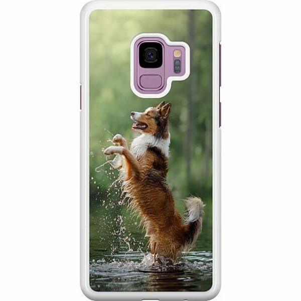 Samsung Galaxy S9 Hard Case (Vit) Happy Dog