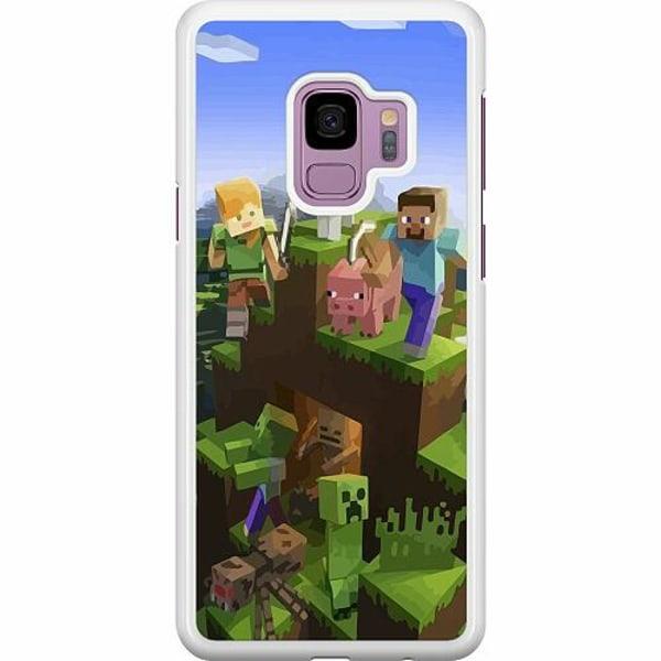 Samsung Galaxy S9 Hard Case (Vit) MineCraft
