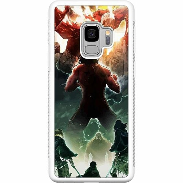 Samsung Galaxy S9 Soft Case (Vit) Attack On Titan