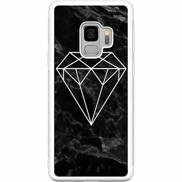 Samsung Galaxy S9 Soft Case (Vit) Diamant