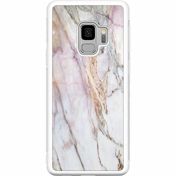 Samsung Galaxy S9 Soft Case (Vit) Marmor