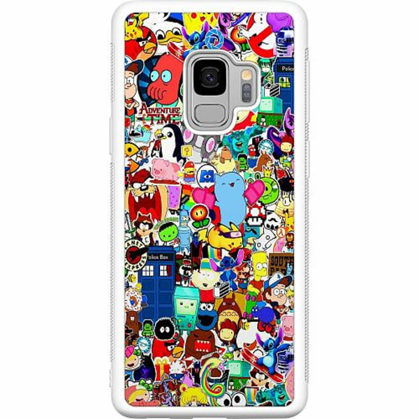 Samsung Galaxy S9 Soft Case (Vit) Stickers