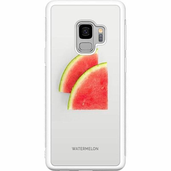 Samsung Galaxy S9 Soft Case (Vit) Watermelon
