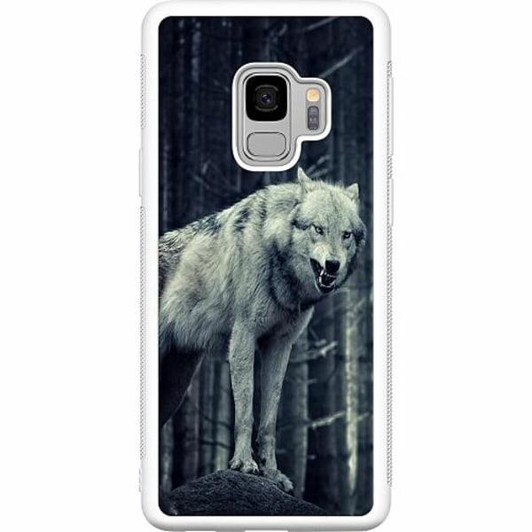 Samsung Galaxy S9 Soft Case (Vit) Wolf / Varg