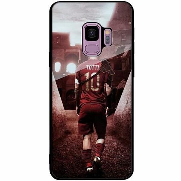 Samsung Galaxy S9 Svart Mobilskal med Glas Francesco Totti