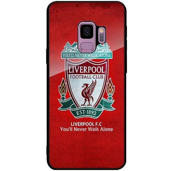 Samsung Galaxy S9 Svart Mobilskal med Glas Liverpool