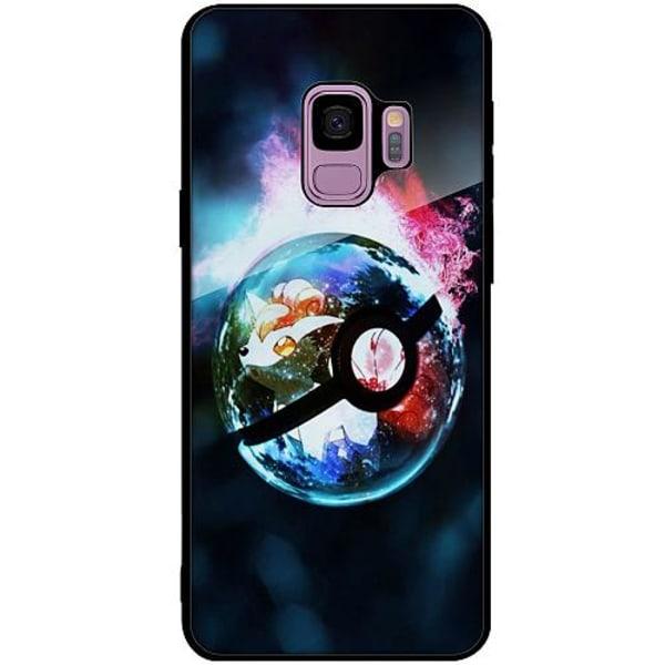 Samsung Galaxy S9 Svart Mobilskal med Glas Pokemon