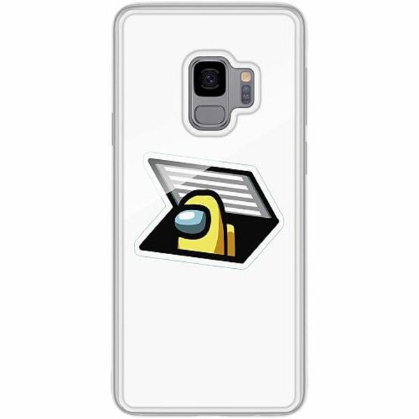 Samsung Galaxy S9 Transparent Mobilskal med Glas Among Us