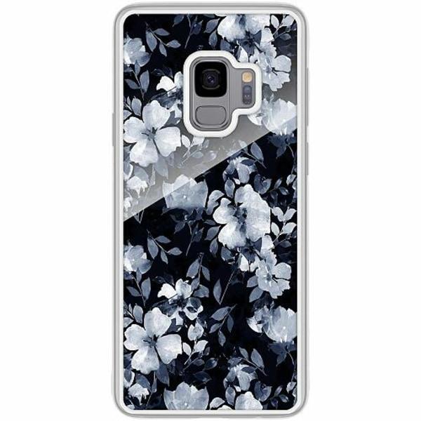 Samsung Galaxy S9 Transparent Mobilskal med Glas Blommor