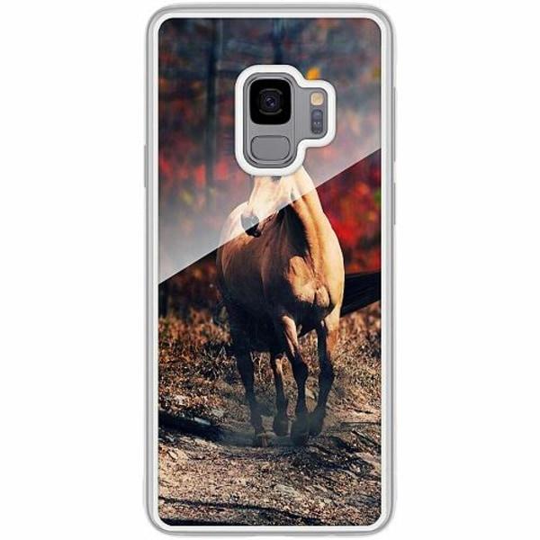 Samsung Galaxy S9 Transparent Mobilskal med Glas Häst / Horse