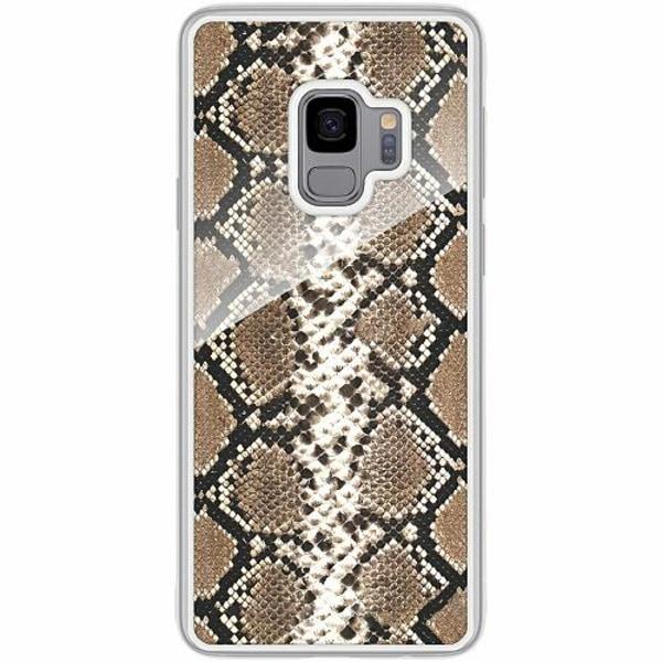 Samsung Galaxy S9 Transparent Mobilskal med Glas Mönster