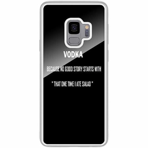 Samsung Galaxy S9 Transparent Mobilskal med Glas Sprit