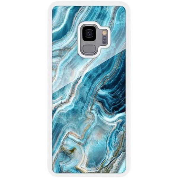 Samsung Galaxy S9 Vitt Mobilskal med Glas Diamantis