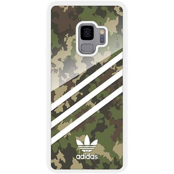 Samsung Galaxy S9 Vitt Mobilskal med Glas Fashion