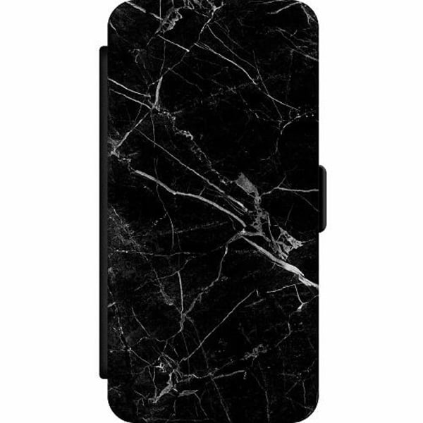 Samsung Galaxy Note 20 Wallet Slim Case black marble
