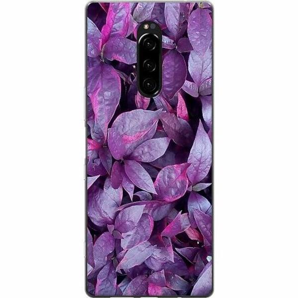 Sony Xperia 1 Mjukt skal - Purple Shrubs