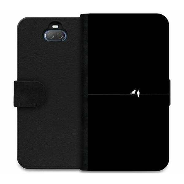Sony Xperia 10 Plus Wallet Case Minimalist Birds Black