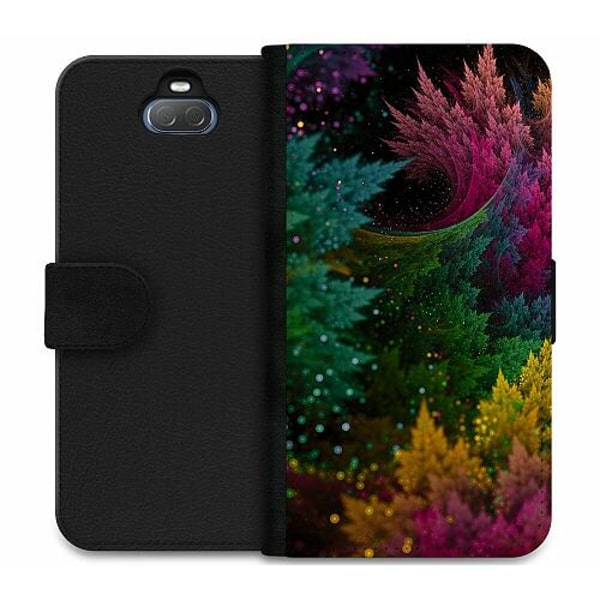 Sony Xperia 10 Plus Wallet Case Pixel Forest