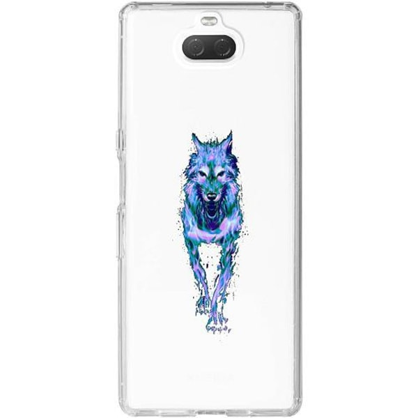 Sony Xperia 10 Thin Case Fire Wolf