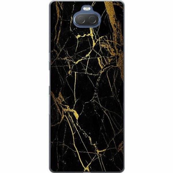 Sony Xperia 10 Thin Case Marble Black&Gold