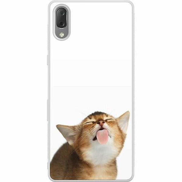 Sony Xperia L3 Soft Case (Frostad) Cat Keeps You Clean