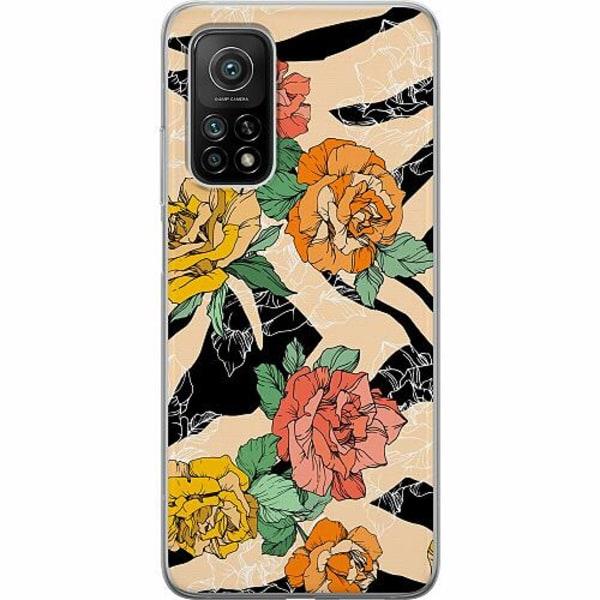Xiaomi Mi 10T Pro 5G Mjukt skal - Flower Zebra