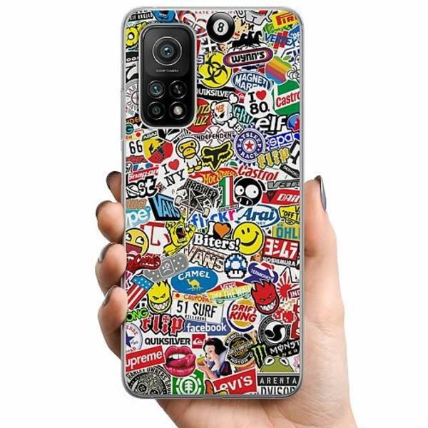 Xiaomi Mi 10T Pro 5G TPU Mobilskal Stickers