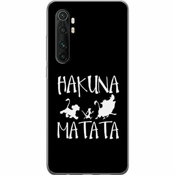 Xiaomi Mi Note 10 Lite TPU Mobilskal Hakuna Matata