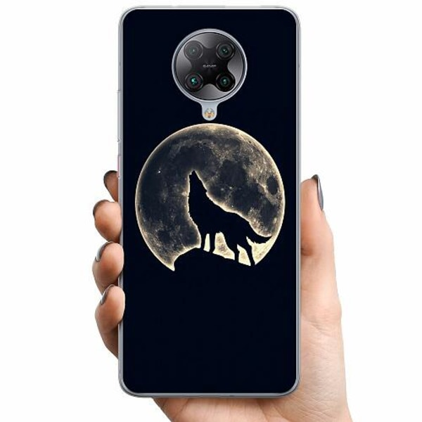 Xiaomi Poco F2 Pro TPU Mobilskal Howling Moon Wolf