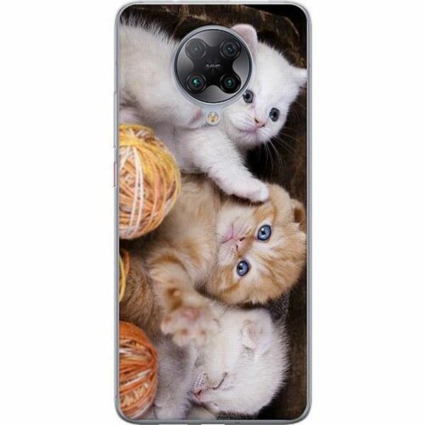 Xiaomi Poco F2 Pro TPU Mobilskal Kittens and Yarn
