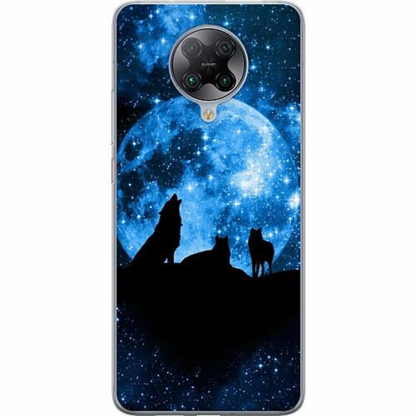 Xiaomi Poco F2 Pro TPU Mobilskal Moon Wolves